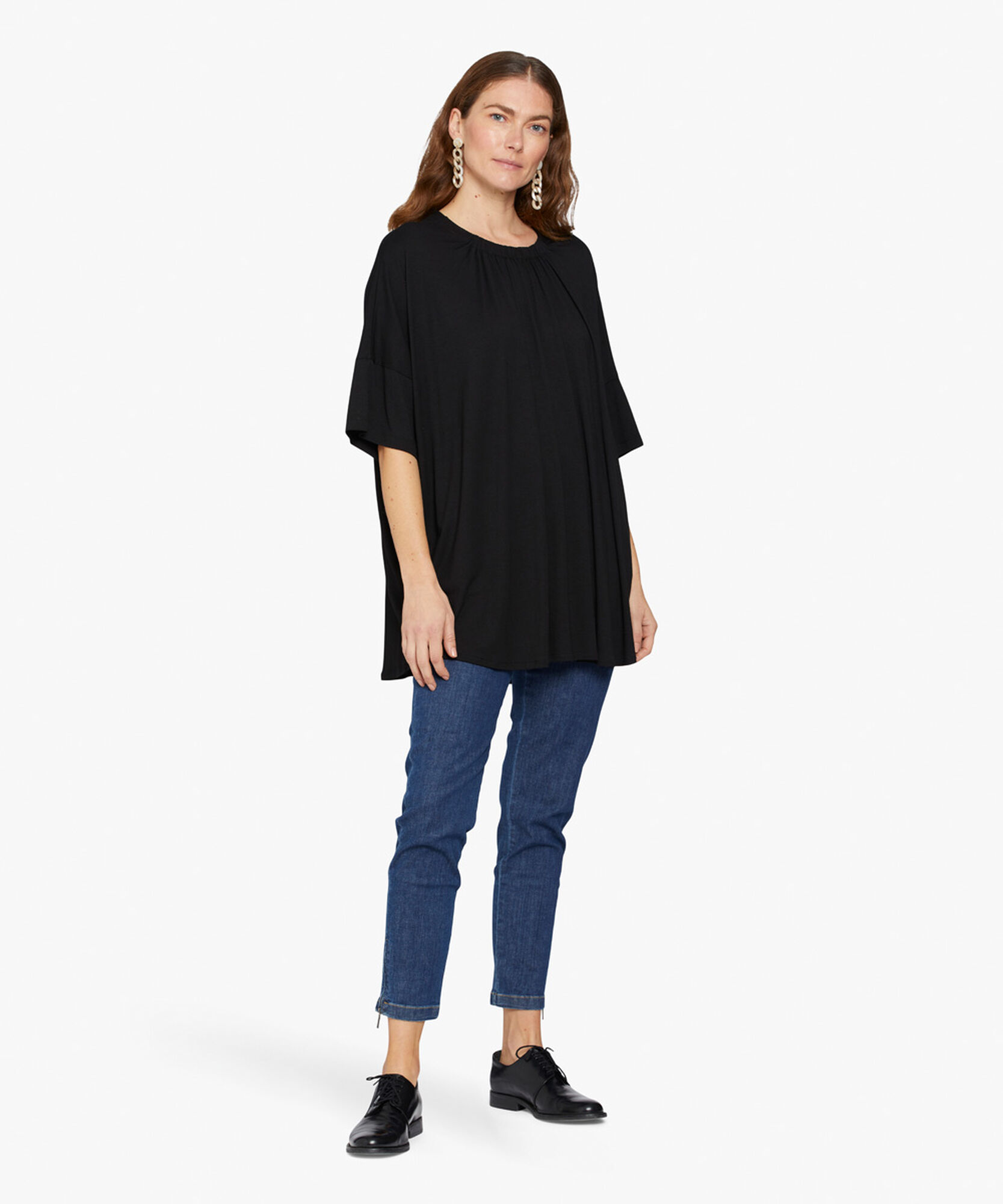 DELISA TOP, Black, hi-res