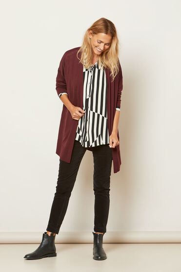 LOREEN CARDIGAN, TAWNY PORT, hi-res