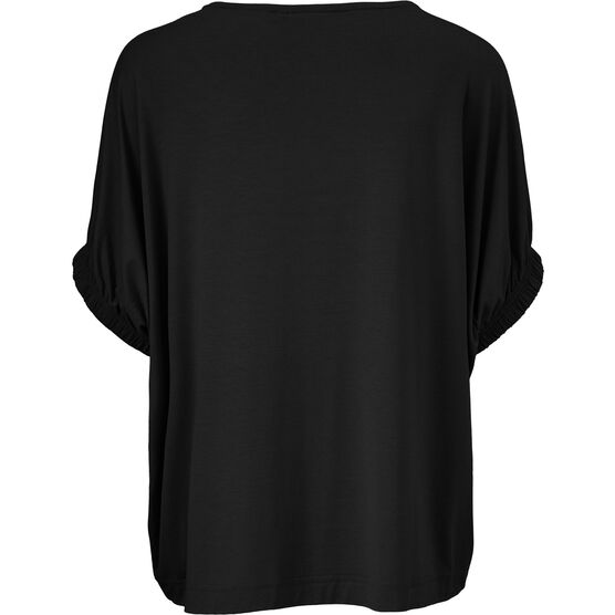 DELIA TOP, BLACK, hi-res