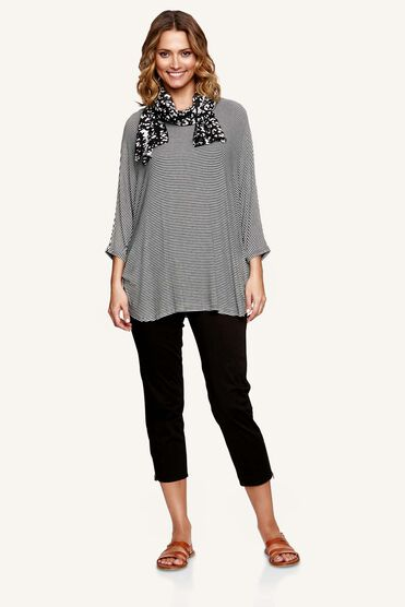 DESTA TOP, BLACK, hi-res
