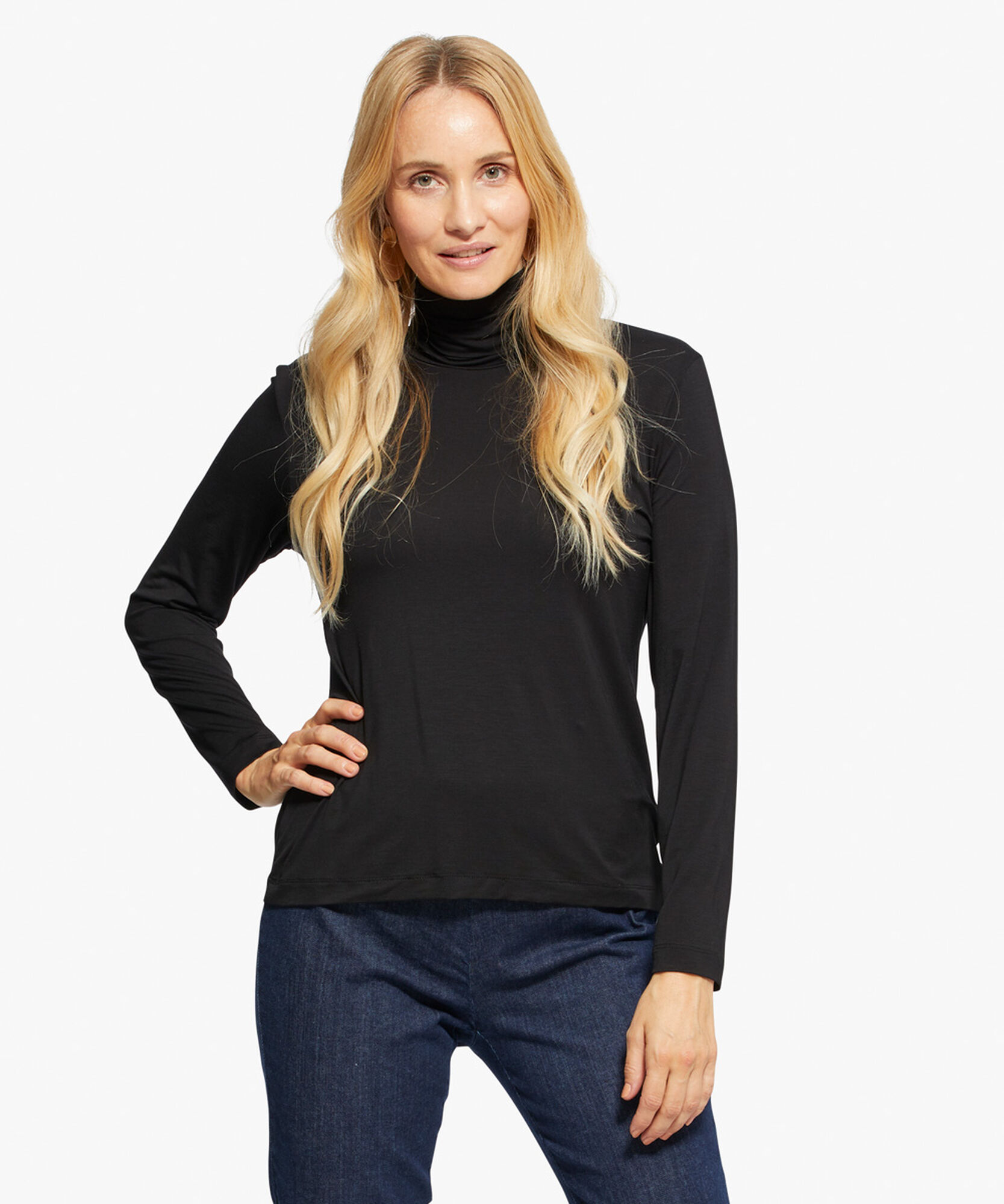 BRUNIS TOP, Black, hi-res