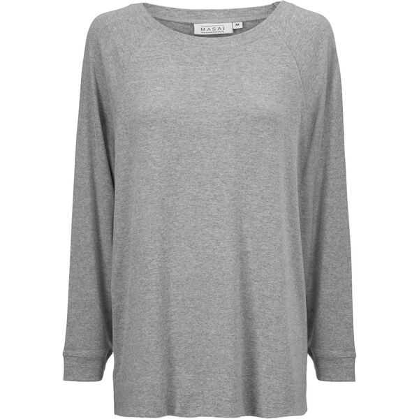 BODIL TOP, L GREY MEL, hi-res
