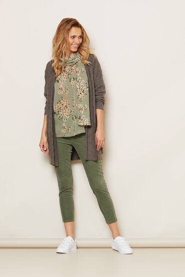 LORENZA CARDIGAN, BROWN MEL, hi-res